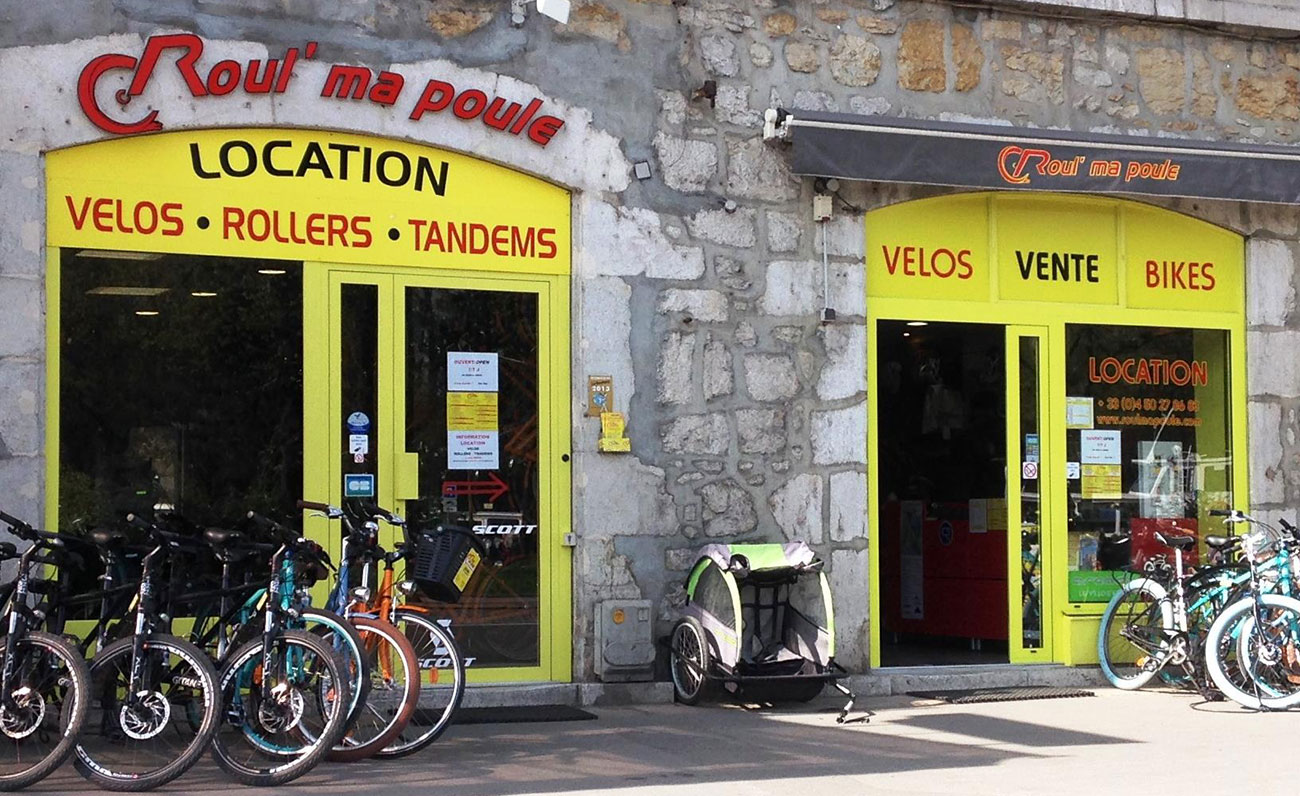 Magasin Roul Ma Poule Location vélo Annecy