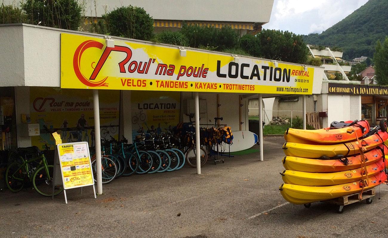 Magasin Roul' Ma Poule Location Vélos Annecy Le Vieux